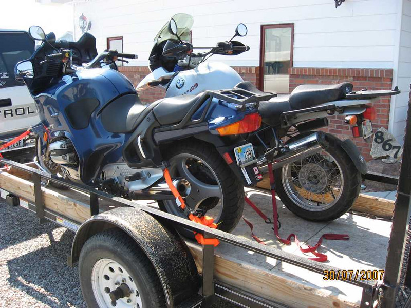 Trailer advice please adventure rider i recently moved from wyoming to virginia with two bmw boxers on the 5 x 10 trailer and had to get creative with chocks to make them fit especially with asfbconference2016 Choice Image