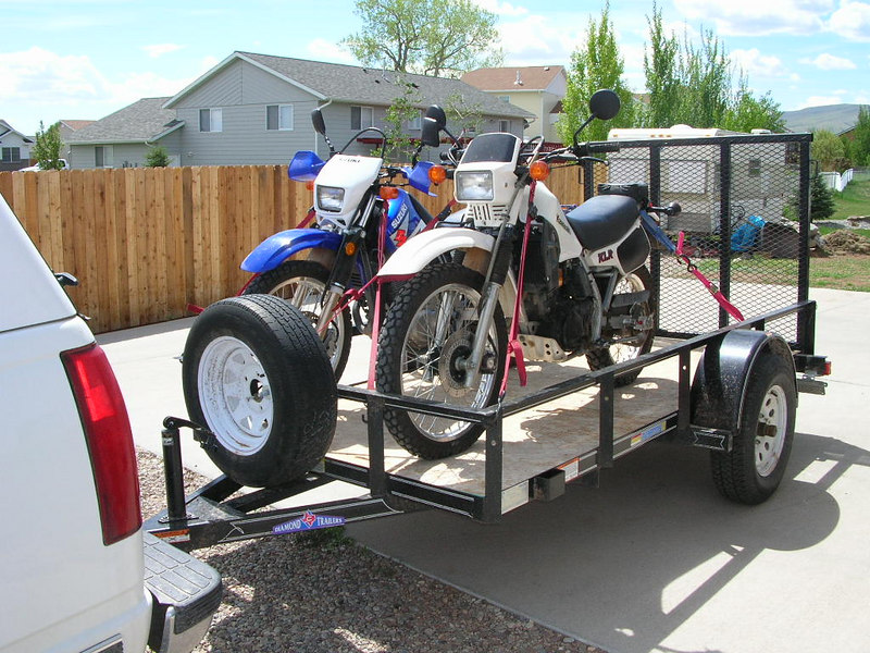 Trailer advice please adventure rider the beemers rode all the way to virginia 2000 miles without a wiggle the trailer is long enough to handle the gs in the back position even with the givi asfbconference2016 Choice Image