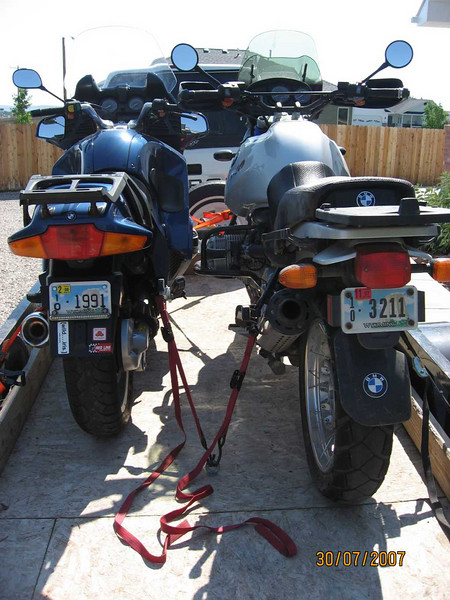 Trailer advice please adventure rider i recently moved from wyoming to virginia with two bmw boxers on the 5 x 10 trailer and had to get creative with chocks to make them fit especially with asfbconference2016 Images